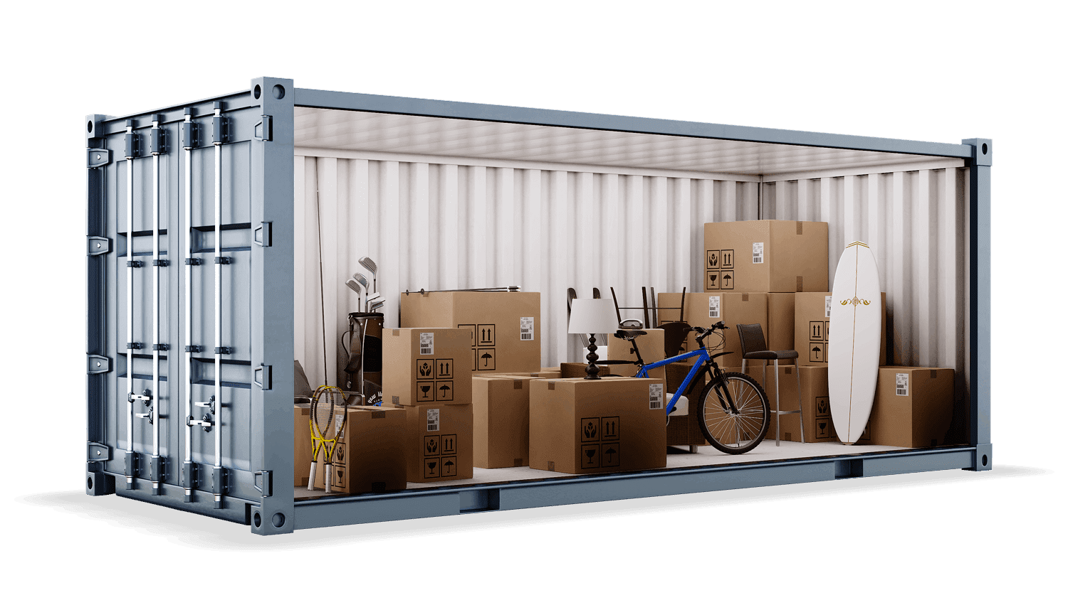 160sqft container open at southwick