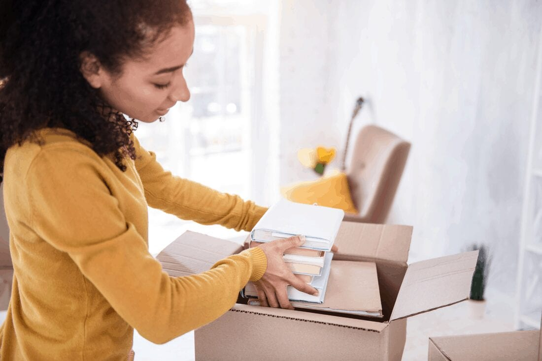 girl packing boxes southwick storage
